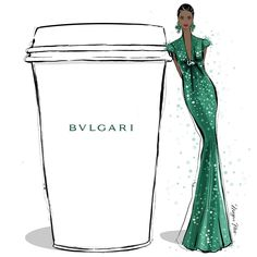 "6,530 Me gusta, 80 comentarios - Megan Hess (@meganhess_official) en Instagram: ""I'm feeling very fancy and would really appreciate a BVLGARI coffee today - with a side of a…"""