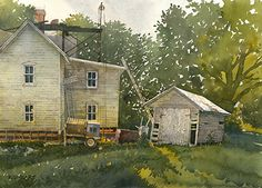 "Fixing Up by Richard Sneary Watercolor ~ 10"" x 14"""