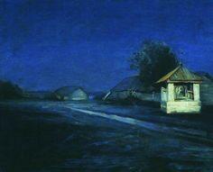 Night Landscape by Arkhip Kuindzhi. Realism. landscape