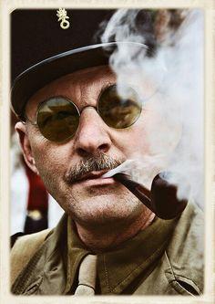 #Military #pipe #smoker www.eacarey.co.uk