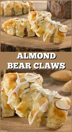 Bear Claws Almond Bear Claws are a bakery favorite that are un-BEAR-ably good, and now you can make them at home!Almond Bear Claws are a bakery favorite that are un-BEAR-ably good, and now you can make them at home! Puff Pastry Desserts, Puff Pastry Recipes, Köstliche Desserts, Delicious Desserts, Dessert Recipes, Yummy Food, Pastries Recipes, Choux Pastry, Shortcrust Pastry