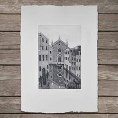 Madonna dell'Orto - Church in Venice  #art #print #etching #printmaking #venice