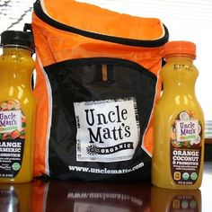 Just in @wholefoodsMag : @unclemattsorganic has some new single-serving sizes of their OJ like Organic Turmeric and Organic Coconut....both with #probiotics!