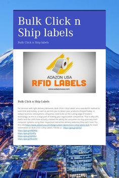 Bulk Click n Ship labels