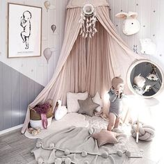 Some stunning #nurseryinspo here. I feel like I've been planning (and pinning) Penelope's new nursery FOREVER. Can't wait wait to move to our new home in a few months so I can share the journey with you to creating her new room. If you are looking for ideas, check out our #pinterest for ideas and mood boards! Magical pic from Kinderoo Interiors