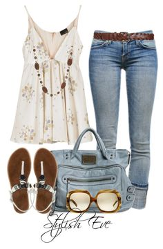 Untitled #3686 by stylisheve on Polyvore featuring polyvore, moda, style, Fendi, Current/Elliott, Chinese Laundry, Jvin and Wet Seal