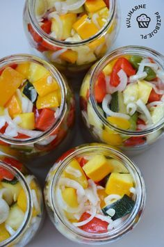 Home Canning, Fruit Salad, Cantaloupe, Zucchini, Salads, Menu, Healthy Recipes, Food, Tables