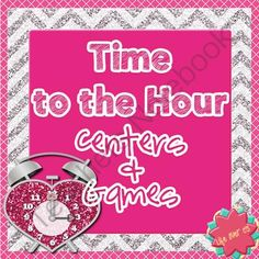 Valentines Time Games for Centers: Time to the Hour from Life Over C's on TeachersNotebook.com -  (53 pages)  - Review time to the hour with Bump! games, puzzles, clip cards, time order cards, and more. Lots of opportunities to practice telling time with a fun Valentine's theme