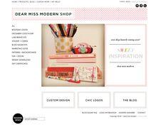 Dear Miss Modern Design Shop | high-end pre-made logos | marketing | branding | blog  design. New shop + products coming soon! #branding #design #logo #logos www.dearmissmodern.com