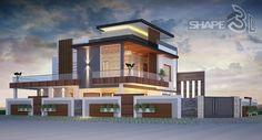 Duplex House Design, House Front Design, Modern House Design, Modern Interior Design, Building Elevation, House Elevation, Box Houses, Nice Houses, Modern Houses