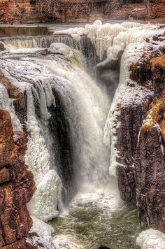 icy falls on the Passaic River, Paterson Great Falls National Historical Park, New Jersey | Mark Cranston, Fine Art America