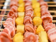 Bacon-Wrapped Chicken Skewers with Pineapple and Teriyaki Sauce | Serious Eats : Recipes