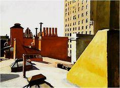 """EDWARD HOOPER -  """"Tejados de Ciudad"""", de 1932."""