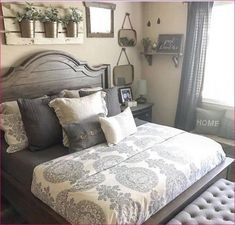 60+ Romantic Rustic Farmhouse Master Bedroom Decorating Inspirations