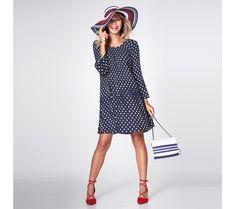 Širšie bodkované šaty | modino.sk #ModinoSK #modino_sk #modino_style #style #fashion #spring #summer #newcollection Dresses For Work, Sexy, Casual, Vintage, Minden, Spring Summer, Style, Fashion, Pleated Dresses
