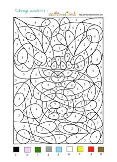 Home Decorating Style 2020 for Coloriage A Chiffre, you can see Coloriage A Chiffre and more pictures for Home Interior Designing 2020 at Coloriage Kids. Pattern Coloring Pages, Colouring Pages, Printable Coloring Pages, Coloring Pages For Kids, Coloring Sheets, Adult Coloring, Coloring Books, Adult Color By Number, Color By Number Printable