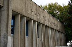 Nantes - Faculté de Droit et des Sciences Politiques  Architectes: Louis Arretche, François Deslaugiers, Jean Boquien (architecte d'opération)  Extentions:  Evelyne Rocheteau, Eric Sailla  Construction: 1969 - 1970