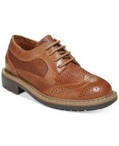 9153b98e1a91b2 Kenneth Cole Reaction Boys  or Little Boys  Take Fair Dress Shoes - Brown  4.5