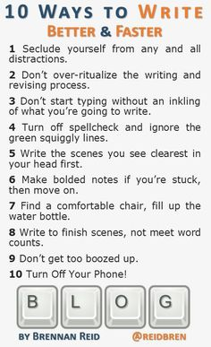 10 Writing Tips.