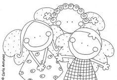 O Tapete Vermelho da Imagem: Images' Red Carpet: Imagens de Carla Antunes para colorir Cute Pattern, Pattern Design, Illustrations, Doodle Drawings, Digi Stamps, Coloring Book Pages, Coloring For Kids, Stitch Patterns, Craft Projects