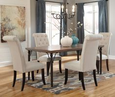 """demarios dining set from ashley furniture 45""""w x 70/88""""d x 30""""h"""