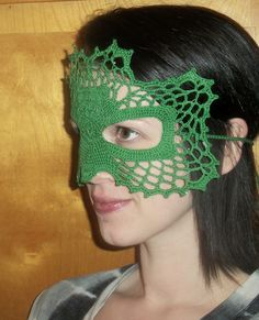 Give your lace crochet skills a test with this pretty shamrock mask pattern!    Designed By:   Farrah Hodgson Skill Level:   Interme...