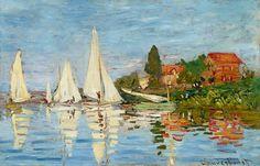 Afbeelding Claude Monet - Regatta bei Argenteuil