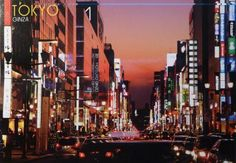Postcard travelled km miles) in 6 days (from Japan to Australia): Ginza, a prestigious shopping district in Tokyo, Japan Postcards, New York Skyline, Tokyo, Australia, Japan, Travel, Viajes, Tokyo Japan, Destinations