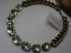 Chrysolite 13x18mm Swarovski Oval crystals by ParisiJewelryDesigns, $130.00