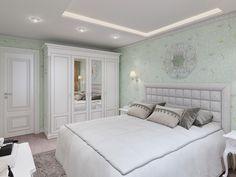 Спальня. Дизайн интерьера квартиры в классическом стиле, ЖК «Московский квартал», 80 кв.м.