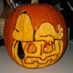 Snoopy Pumpkin Carving
