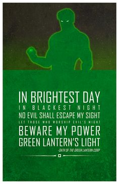 A poster series of inspirational quotes from DC Comics heroes