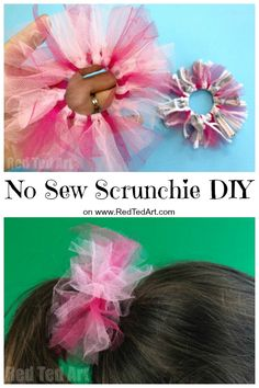 Hair Accessories diy jewelry to sell - haarschmuck diy schmuck zu verkaufen acce. Diy Hair Scrunchies, How To Make Scrunchies, Diy Hair Bows, Diy Bow, Red Scrunchie, Sewing Projects For Beginners, Sewing Tutorials, Sewing Hacks, Sewing Tips