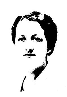 Portrait de Germaine Tillion en bichromie                                                                                                                                                                                 Plus