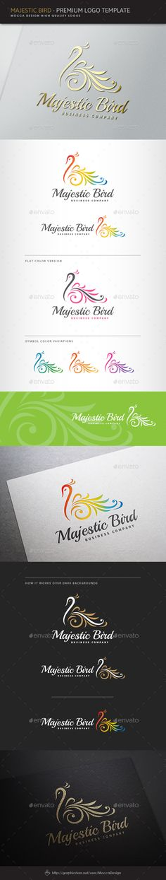 Majestic Bird Logo — Vector EPS #calligraphic #majestic #classic • Available here →  https://graphicriver.net/item/majestic-bird-logo/10156150?ref=dsmii