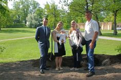 2012 Crown Princess Victoria and Prince Daniel plant a tree for Princess Estelle for her Christening