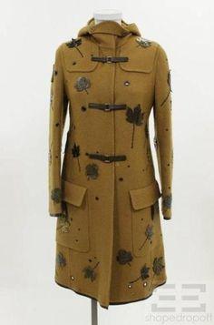 Prada leaf applique coat, F/W 1999