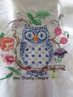 Owl Embroidery Sew Shabby Designs