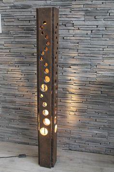 Metal Furniture, Diy Furniture, Industrial Furniture, Furniture Design, Blitz Design, Diy Holz, Wood Lamps, Glass Lamps, Bedroom Lamps