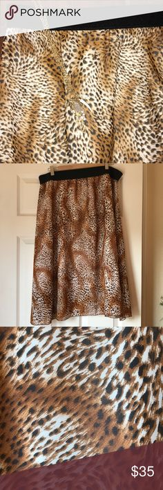 2X Lularoe Lola skirt Hot animal print! 🐯 so fab! You need this!! LuLaRoe Skirts Midi