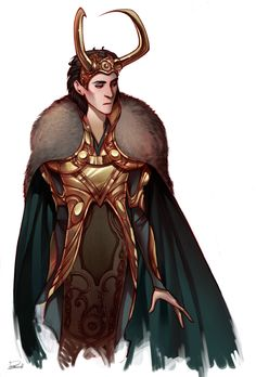 I'm just in love with Loki's character designs (mainly just his head piece!) lol    Loki sketch by *Phobs
