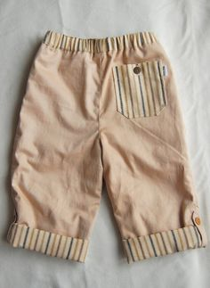 Super cute button-cuff pants...can easily be made fully reversible (already fully lined).