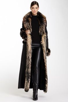 Mink Shawl Collar Shearling Coat by Branco Pelle on @HauteLook