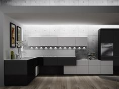 Lacquered Fitted Kitchen ARTEMATICA PIGMENTUS Artematica Line By VALCUCINE  | Design Gabriele Centazzo