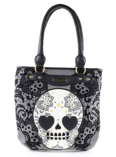 Love Sick Sugar Skull Tote Bag | PLASTICLAND