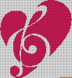 Cuore Cross Stitch Music, Cross Stitch Pillow, Cross Stitch Heart, Beaded Cross Stitch, Cross Stitch Alphabet, Cross Stitch Embroidery, Cross Stitch Designs, Cross Stitch Patterns, Diy Broderie
