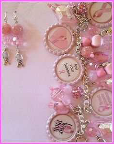 Have one to sell? Sell it yourself   LaDeDa4U Bonnie Custom Made Breast Cancer Awareness Charm Bracelet Jewelry