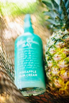 When life gives you Pineapple Rum Cream, make piña coladas. With our Pineapple Rum Cream, juicy, fresh pineapple greets the nose and brings the senses to the islands. Sip it on the rocks or mix it with Blue Chair Bay® Coconut Rum to make a must-have piña colada.