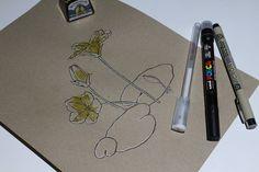 "Día 18: Ambroiño anano (Genciana acuática) ""Nymphoides peltata""  #InkTober #InkTober2016 #InkToberEspaña #FloraDaGaliza Inktober, Drawings, Sketches, Drawing, Portrait, Draw, Grimm, Illustrations"