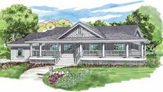 Farmhouse House Plan with 1578 Square Feet and 3 Bedrooms from Dream Home Source | House Plan Code DHSW04041